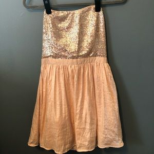 Sequin Top Flair Dress